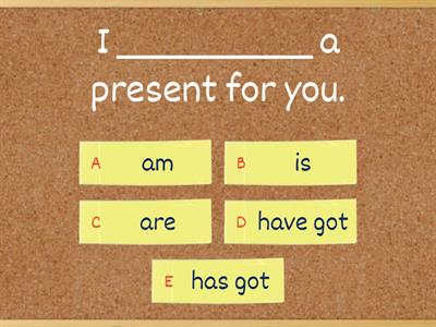 BE & HAVE GOT (Present)
