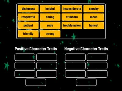 Positive and Negative Character Traits