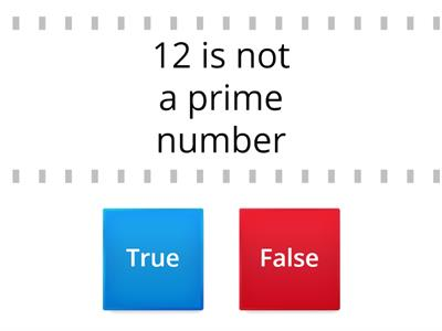 true or false maths quiz