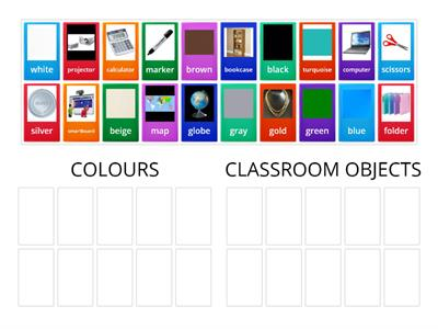Grade 3- Colours-Classroom Objects