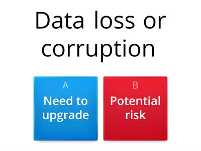 Software Prompts for upgrade and the risk involved