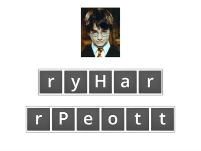 Anagram Harry Potter