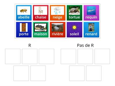 Letter R in word (with pictures) - French