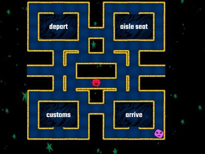 Maze chase - Air travel/airports