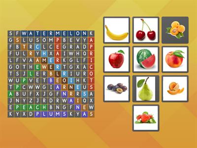 Find the words and match pictures