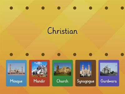 Match the Place of Worship