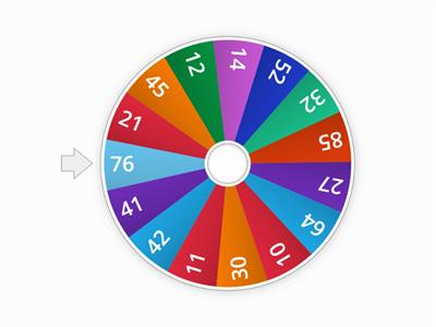 Double Digit Number Wheel