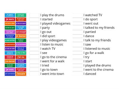 Free time activities in the present and past tenses
