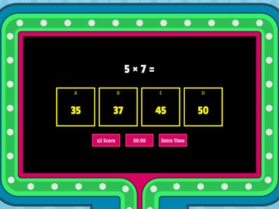 Multiplication Practice Gameshow