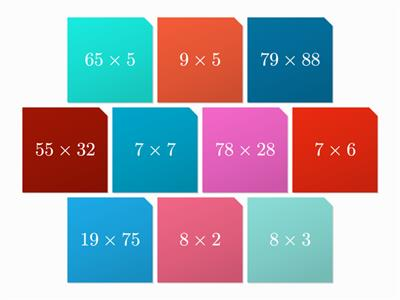 Multiplication tiles