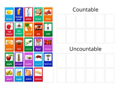 Countable & Uncountable Nouns food