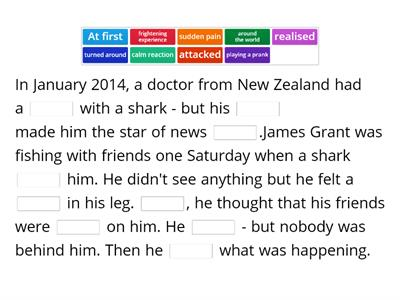 2D WB Solutions Pre-Intermediate Shark story