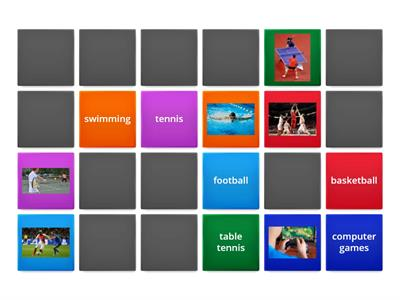 Sports - a memory game.