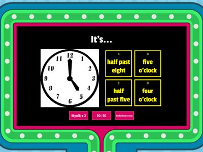 QUIZ Telling the time