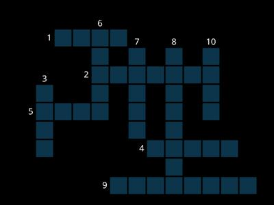 Amazing plants Voc 1 Crossword