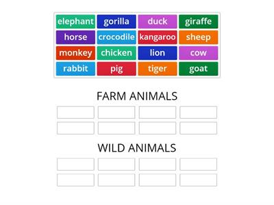 FARM/WILD ANIMALS