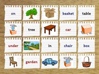 Objects & Prepositions (in/on/under)