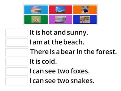 Module 9 Places Match the sentences to the pictures.