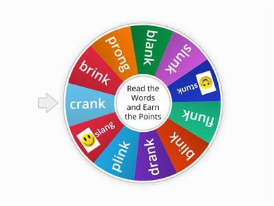 Blends and Welded Sounds Word Wheel 2.4