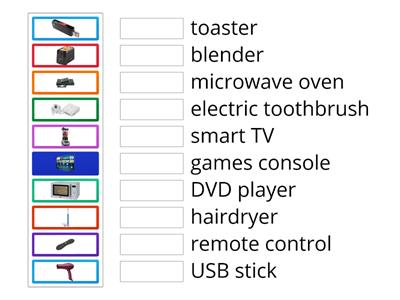 Go getter 3 Unit 4 Technology Words: Electrical Items