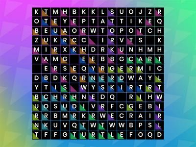 Wordsearch R-controlled words