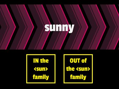 The <sun> Family - True or False
