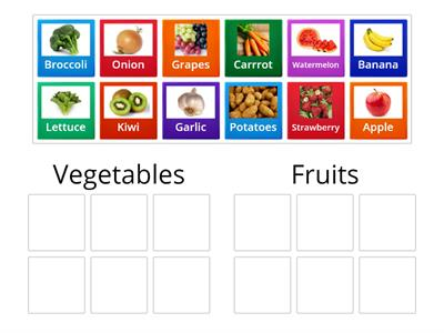 Fruits and vegetables Game