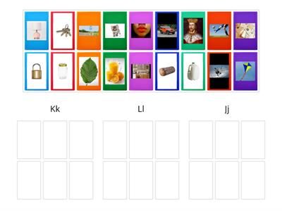Picture Sort for K, L, J