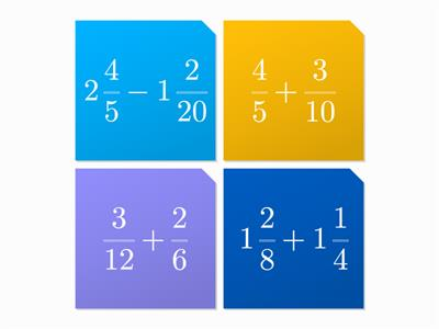 Addition and Subtraction of Fractions and mixed numbers