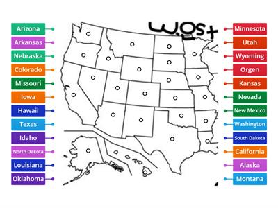 Western USA Map Diagram
