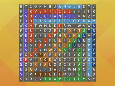 quadrilateral wordsearch