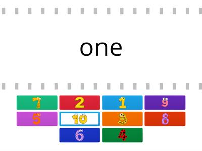 Numbers ( from 1 to 10)