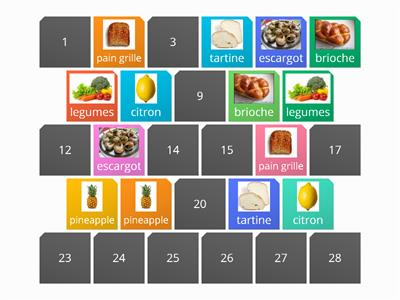 Matching pairs1 food wordwall3