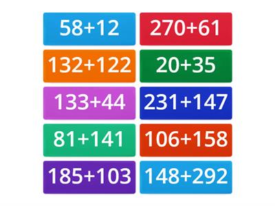 (W6) Addition of 2 and 3-digit numbers