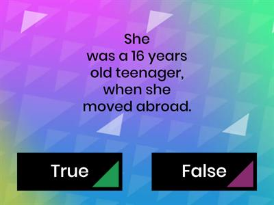 Learning abroad reading - true or false
