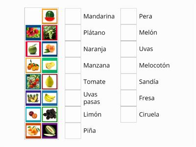 Fruit vocabulary