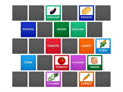 Copy of FRUITS AND VEGETABLES. FIND THE MATCHING PAIR