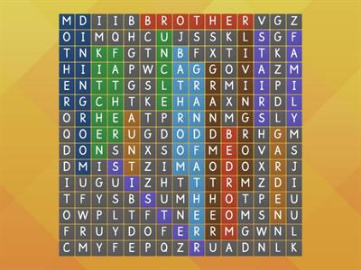 Wordsearch -Life at home
