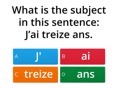 French Subjects, Verbs & Subj. Pronouns
