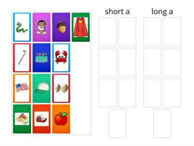 Vowel sound sort - short and long a