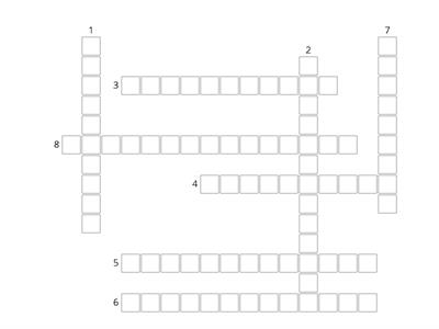 Super Minds 1 Unit 9 Crossword
