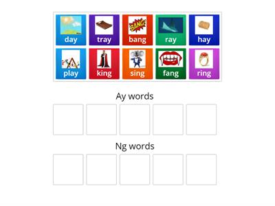 "Sound Sort ""ay"" and ""ng"""