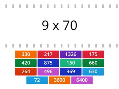 Multiplication (1 x 2 digit and 2 x 2 digit)