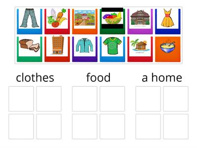 JWJ E3 clothes food a home