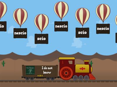 4th and 3rd -io verbs balloon pop