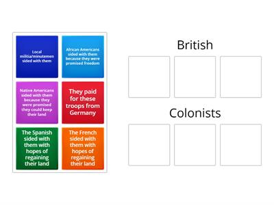 British v. Colonists
