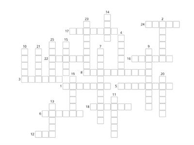Brainy 4. Crossword 1-3