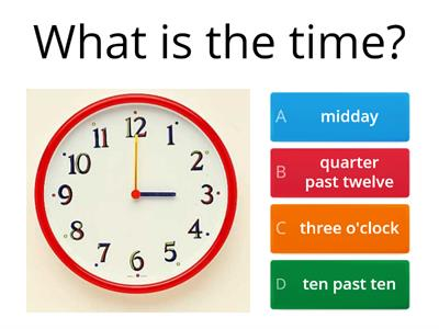 what is the time? updated