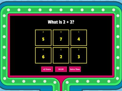 Fast Math Addition Quiz Show