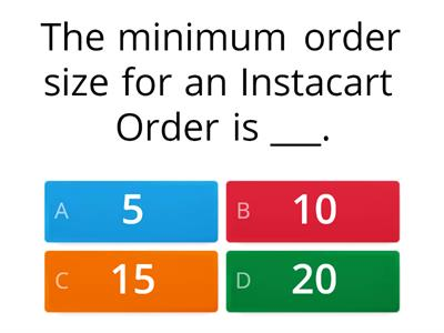 Instacart - Knowledge test